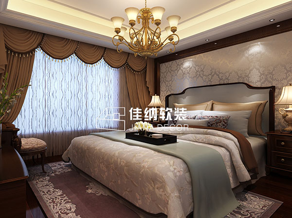上海家庭软装效果图欧式轻奢风