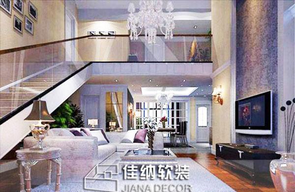 上海复式房软装修效果图软装赏析