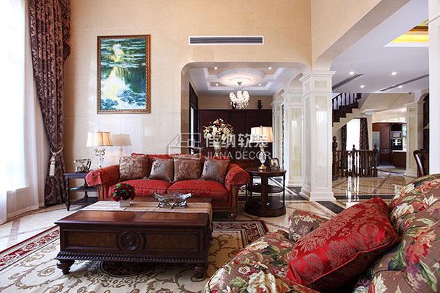 美式别墅样板房软装修怎么做的?