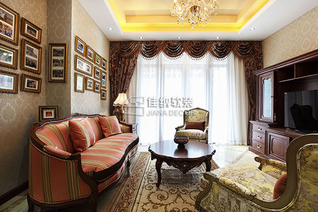 美式别墅样板房软装修怎么做的