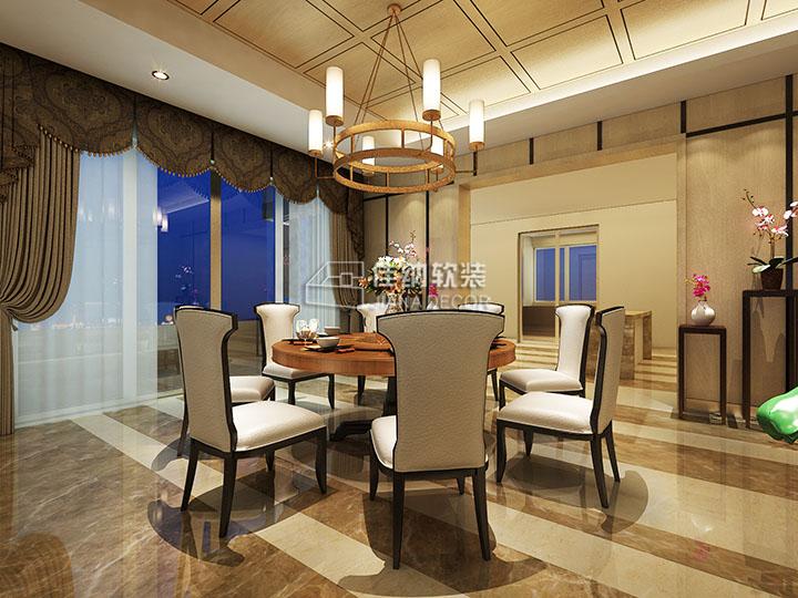 软装风格适合选用深色木餐桌