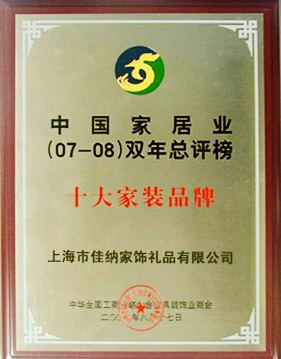 中国家居业(07-08)双年总评榜十大家装品牌