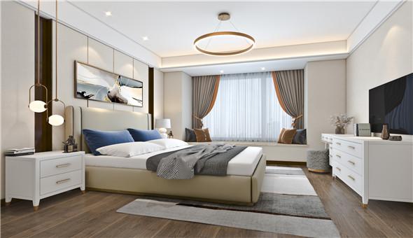 三室两厅 现代轻奢风格 花语江南